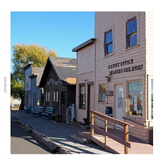 US Post Office, 97057 (Eclectic Jack) Tags: shaniko eastern oregon trip october 2018 rural autumn fall central ghost town highway hwy 97 small history america americana west old us post office postal letter mail square