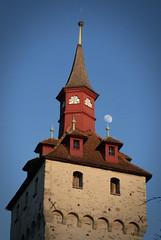 Wacht tower & moon III (to.bi) Tags: moon tower lucerne