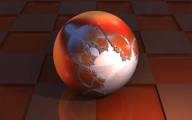 Обои шар, квадраты, 3d картинки на рабочий стол, фото скачать бесплатно