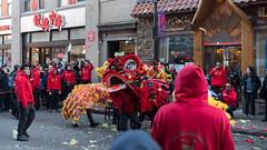 The dragon dance. (kuntheaprum) Tags: chinatownboston chinesenewyearcelebration yearofthepig sony a7riii tamron 2470mm f28 festival parade dragon firework