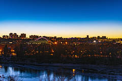 Dusk... (Mister Day) Tags: skyline dusk night edmonton sunset prairie alberta city winter