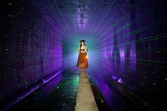 Time bandits (palateth) Tags: lightpainting lightart night nophotoshop singleexposure urbex abandonnedplace backlight tunnel underworld pirate laser