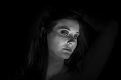 'Cause You Know Me (○gus○) Tags: nikond750 1050mm dc afdcnikkor105mmf2d ƒ90 1200 portrait ritratto woman donna sguardo gaze ragazza girl freckle lentiggini freckles lentiggine biancoenero blackandwhite blancoynegro bn monochrome bw cb ʂ