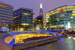 The Scoop (2) (Geoff Henson) Tags: theatre amphitheatre scoop morelondon pavement railing lights building architecture shard skyscraper