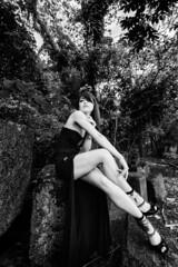 In a mysterious forest (HarQ Photography) Tags: fujifilm fujifilmxseries xt1 xf1024mmf4rois monochrome blackandwhite portrait conceptual japan