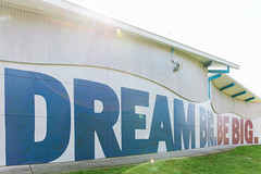 Dream Big. Be Big. (CityofStPete) Tags: saint st petersburg pete florida fl fla stp burg city sun shines here sunshines sunshine tampa bay gulf coast mural derek donnelly chad mize dream big be shine festival south childs park recreation and fitness center