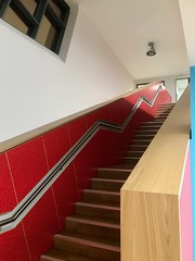 Ards Blair Mayne Wellbeing And Leisure Complex (John D McDonald) Tags: iphone appleiphone iphone7plus appleiphone7plus building architecture leisurecentre sportscentre newtownards ards northdown ardsandnorthdown down countydown codown northernireland ni ulster geotagged dairyhall dairyhalllane red stairs staircase redstairs redstaircase