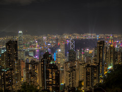 Digital Fortress (Wizard CG) Tags: china hong kong peak the victoria sun set view vista lights skyscrapers skyline travel trip journey holiday wizard cg island hdr magic city epl7 architecture outdoor water waterfront sky boat building sunset mountain bay night longexposure