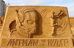 Ant-man and the Wasp (Rick & Bart) Tags: disney waltdisney disneysandmagic sandmagic oostende belgië sand sculpture carvercommunity antman wasp marvel
