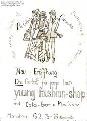 1965 - Young Fashion Shop - G2 Ma (Affendaddy) Tags: 1965 fashionposterblueprint youngfashionshop mannheim g2 germany collectionklaushiltscher