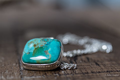 Turquoise (Peter Jaspers (sorry, less time to comment)) Tags: frompeterj© 2019 olympus zuiko omd em10 1240mm28 macro macromondays jewelry turquoise turkoois pendant silver dof bokeh