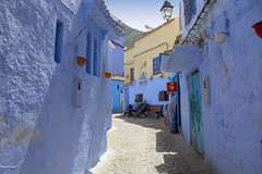 Rest on a bench (maios) Tags: chefchaouen morocco twomentakerestonbench two men take rest bench africa maios blue city bluecity nikon d7100 nikond7100