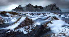 Whitecaps of Vesturhorn (ernogy) Tags: panorama stitched nikon canon ernogy winter wintertime snow snowy mountain iceland vestrahorn vesturhorn