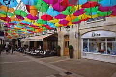 "Umbrella Sky (Eddie C3) Tags: parisfrance levillageroyal patriciacunha outdoorart umbrellas publicart art ""colorlife"""