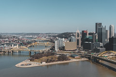 Pittsburgh Overlook (mattb105) Tags: city cityscape skyline travel pennsylvania pittsburgh bridge river urban buildings landscape