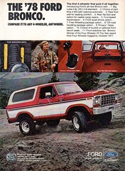 1978 Ford Bronco 4WD USA Original Magazine Advertisement (Darren Marlow) Tags: 1 7 8 9 19 78 1978 f ford b bronco w d 4wd c car cool collectible collectors classic a automobile v vehicle u s us usa united states american america 70s