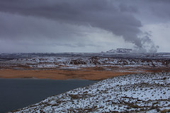 Wintry Lake Powell (CraDorPhoto) Tags: canon5dsr winter snow arizona lake landscape cloudy steam powerstation usa outdoors nature