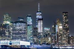 Downtown City Lights (Elyssa Drivas) Tags: newyork newyorkcity nyc night nightphotography nightscape city cityscape lowermanhattan manhattan lowereastside eastside brooklyn brooklynbridgepark curbed gothamist gotham oneworldtrade buildings architecture lights citylights bright colors colorful