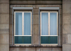 Duo, but different (jefvandenhoute) Tags: belgium belgië liège wall windows duo light shapes