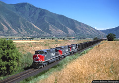 Shiny Shiny Shiny (jamesbelmont) Tags: southernpacific ge ac4400cw skyline trona mapleton utah sntac spanishforkpeak coal unit railroad railway locomotive train