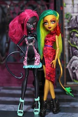 Catty Noir and Jinafire Long (Annette29aag) Tags: monsterhigh doll cattynoir jinafirelong
