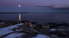 Super moon from Boön (tonyguest) Tags: super moon full sea clouds water rocks shoreline boön karlshamn blekinge sverige sweden tonyguest