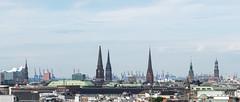 Hamburg - Skyline (Volker Zürn) Tags: deutschland elbphilharmonie europa hafenkran hamburg michel rathausturm skyline welt de
