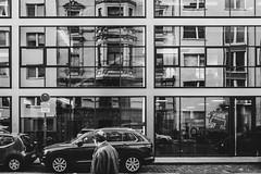### (Zesk MF) Tags: bw black white mono zesk cologne windows street candid spiegelung reflection building urban mirroring x100f fuji strase