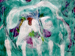Basket Of Doves (giveawayboy) Tags: pencil ballpoint pen crayon sketch draw eraser erasure water acrylic paint painting fch tampa artist giveawayboy billrogers abstract expressionism