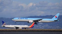 Korean Air (HL8216) (A Sutanto) Tags: plane spotting avgeek sfo ksfo airlines airliner airport san francisco ke korean air