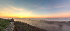 New beginning (ZeGaby) Tags: brumes champagne hdr landscape marne mist naturephotography panorama panoramique paysage paysagedechampagne pentax2470mm pentaxk1 sunrise vignes vignobles closdesgoisses