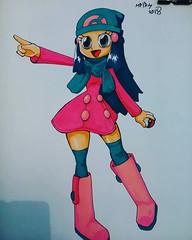 #dawn de la cuarta generación ** #maya #pokegirl #fanArt #pokemonday #markers #copic #EliasPostArt #EPA #pokemon #animegirl (EliasPostart) Tags: instagram sticker tumblr elias post art iustración dibujo diseño