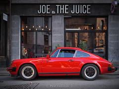 Joe & The Juice (amipal) Tags: 175mm capital car city copenhagen denmark europe holiday manuallens porsche red sportscar travel urban voigtlander