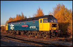 47635 (saltley1212) Tags: ews class47 474 47635 br large logo lass oballochmyle toton depot nottingham