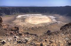The crater (Walid Mahfoudh) Tags: crater ksa saudi arabia rock volcano volcan cratère landscape blue sky salt lake