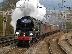 Full Steam Ahead (The Walsall Spotter) Tags: rugeley trent valley railway station sr southern merchantnavy 35018 british india line steam locomotive carnforth kingslynn namedlocomotive