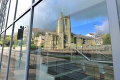 MAR_1919_00001 (Roy Curtis, Cornwall) Tags: uk cornwall truro disused churchofstpaul reflection window glassfronted officebuilding architecture