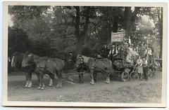 . (Kaïopai°) Tags: old alt vintage kutsche ackerwagen pferd horse vierspanner leiterwagen umzug parade feier fest fahrrad kutscher wald erntefest ross nsdap