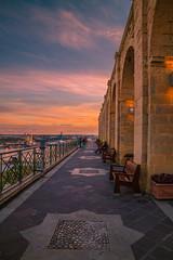 Sunset in Valletta (Vagelis Pikoulas) Tags: sun sunset view valletta malta canon 6d tokina 2470mm february winter 2019 sky skyscape city colour cityscape urban architecture travel europe