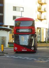 GAL LT855 - LTZ1855 - DEPTFORD DLR STATION - SUN 24TH MAR 2019 (Bexleybus) Tags: deptford bus station dlr broadway college wrightbus new routemaster nbfl boris borismaster goahead go ahead london tfl route 453 lt855 ltz1855