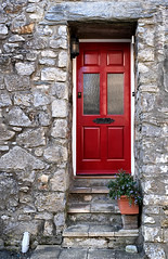 11 Entrance (manxmaid2000) Tags: entrance door steps red wall home wooden house front stone castletown isleofman iom manx