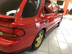 IMG_0322 (deeelux) Tags: red subaru impreza wagon 2000 turbo uk spec 1997 r981gfw