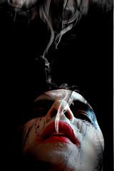 soul (Mau Silerio) Tags: clovn clown makeup make up smoke humo fumo soul anima ame selfie selfportrait portrait circus model modeling posing style stylish