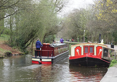 Canal boats on the Leeds & Liverpool Canal (Nigel L Baker) Tags: saltaire canal boats yorkshire olympus aire