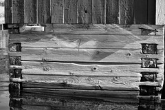 6Q3A4026 (www.ilkkajukarainen.fi) Tags: blackandwhite mutavalkoinen monochreome vene vaaja boathouse wood åland ahvenanmaa finland saari björör lemland island meri sea water vesi carving suomi finlande eu europa scandinavia visit travel travelling happy life museum stuff
