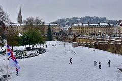 Parade Gardens & Bath city centre (Nige H (Thanks for 15m views)) Tags: winter snow bath somerset england city citycentre cityscape landscape weather