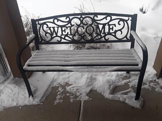 Happy Snowy Bench Monday