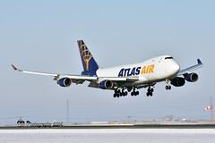 N475MC Atlas Air Boeing 747-47U(F) DSC_4905 (Ron Kube Photography) Tags: aircraft plane flight airliner nikon d7200 nikond7200 ronkubephotography yyc calgary calgaryinternationalairport boeing74747uf n475mc atlasair