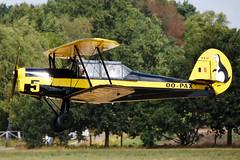 OO-PAX Stampe & Vertongen SV.4B @ Schaffen Diest 11-Aug-2018 by Johan Hetebrij (Balloony Dutchman) Tags: stampe vertongen sv4b sv4 oopax v5 5 belgian airforce air force 2018 ebdt schaffen diest oldtimer aircraft flyin