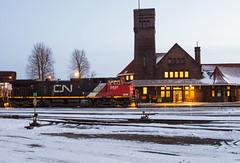 Only 21 Hours Late... (Joseph Bishop) Tags: cn 2631 ge c449w trains train track tracks railfan railroad railway rail rails brantford cndundassubdivision